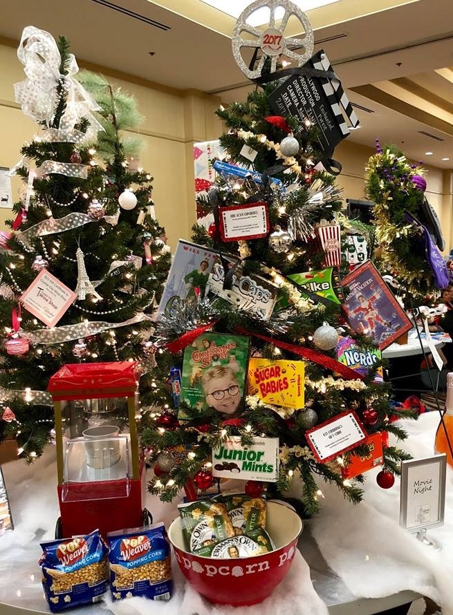 the enchanted forest features over eighty lavishly decorated themed trees and wreaths available for silent auction trees and wreaths are donated by both - Enchanted Forest Christmas Trees